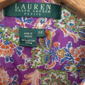 Lauren Ralph Lauren Tops - Lauren Ralph Lauren Paisley Button Down Blouse